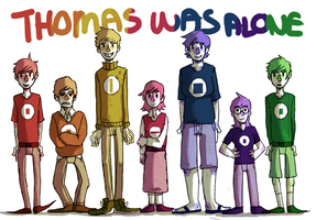 Thomas was Alone by suzanflowergirl1