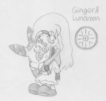 Ginger and Lunamon by Blitzkrieg1701