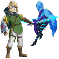Link and Fi - Xenoblade 2 Style by EvolifanNo1