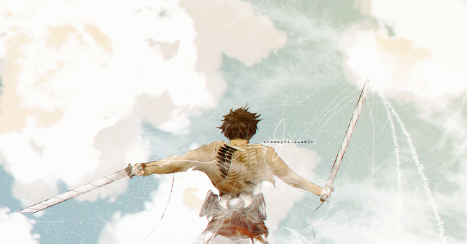 Eren up in the air by cromwyll18