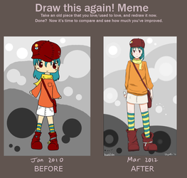 Quail - let's draw this again meme by Bombfishe