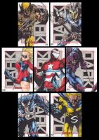 Marvel Sketch cards 2012 by JesterretseJ
