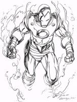 Daily Sketches Inking Ron Garneys Iron Man by fedde