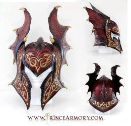 Flame Armor Leather Helmet Compiled by Azmal