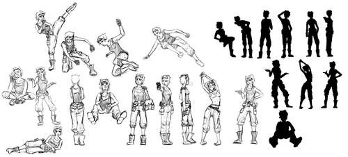 Character Concept Body Poses by UnInfinitum