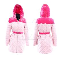 Pink hooded jacket by Deming9120