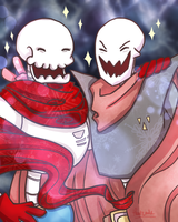 Zombietale!Pap meets Underfell!Pap by Thatcode