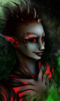 Sylvari Necromancer by Artrisy