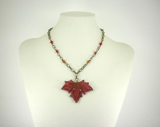 Autumn Leaf Necklace V2 by Lady-Blue