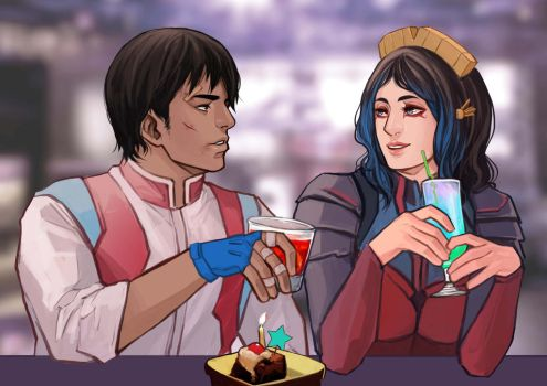 Peace Offering And Birthday Cake by Valong