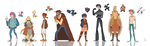 RP Character Lineup by Bearful