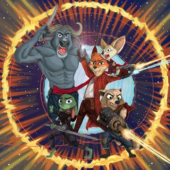 Zooguardians of the Galaxy - by Ziegelzeig by DrummerMax64