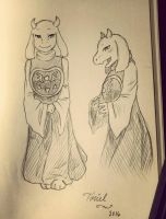 Toriel Sketch by Kamikoroshu