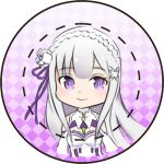 Re:Zero Emilia Button by Melody-in-the-Air