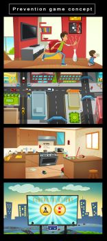 Prevention game concept by X-Factorism