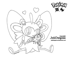 Ribombee - Lineart