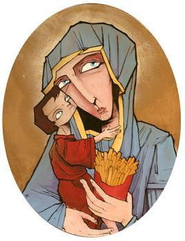Madonna and Fries by humangarbage