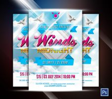 Winds Midnight Party Flyer by afizs