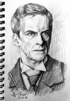 sketch - Peter Capaldi by nitefise
