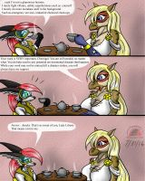 A little superheroine chat over tea... by Snowfyre