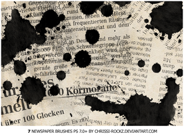 NewspaperBrushes. by Chrissi-Rockz