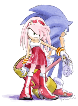 Older Amy and Sonic by Yanimae