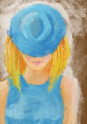 Girl In Blue by SoftBlueClouds