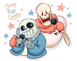 Drop Pop Candy - Sans and Papyrus Duet by CubedCake