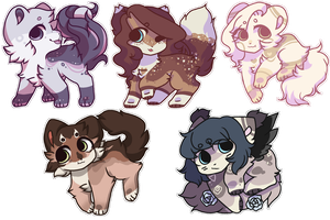 . finished pixel stickers , commission . by spacxey