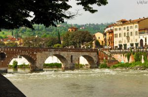 Old Bridge In Verona Over Adige River III by BillyNikoll