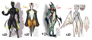 Adoptables Color Palette Monsters CLOSED by InterstellarFarts