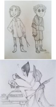 Coraline Sketches by stephsin2kh