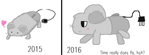 Computer Mouse Redraw (365.25 days on DeviantArt) by Crazilily
