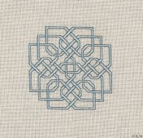 Celtic Knot Blue by RoseAve
