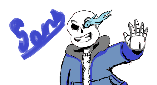 Sans on MS Paint by SantiVenom