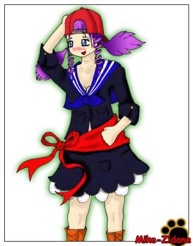 School girl hat colour+Phtoshp by mike-zidane