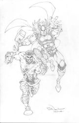 Thor and Hercules by ToddNauck