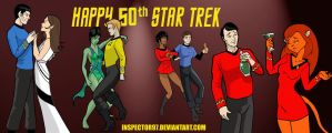 Happy 50th Star Trek by Inspector97