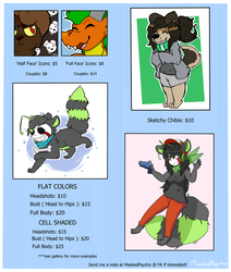 Commissions to help raise money for bf vist! by MaskedPsychopath
