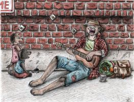 As Long as There's a Guitar by Dragon-Art14