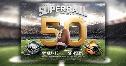 Super Ball American Football Flyer Template by saltshaker911