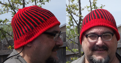Knit Stocking Cap by Moon-Crafter