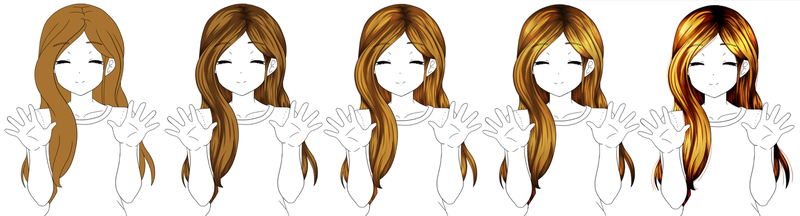 How I color hair by FlyingPings