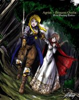 Agrias and Princess Ovelia by johnjoseco