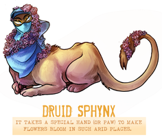 Day 42 - Druid Sphynx by flatw00ds