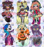 HALLOW'S EVE ADOPTABLE AUCTION | LAST DAY by minnoux