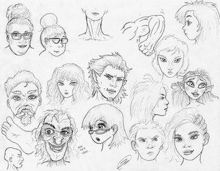 Face Sketches 180519 by TheMightyGorga
