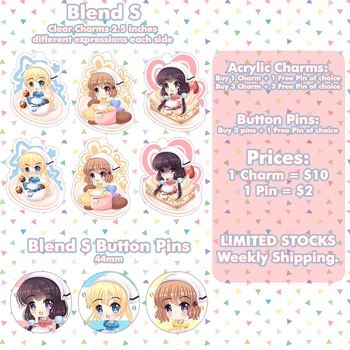 Blend S Charms and Pins by AtelierAstarotte