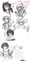 Valentine's Day Sketches by YerBlues000