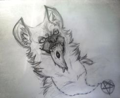 Drawing -  Hyena by k0FFe